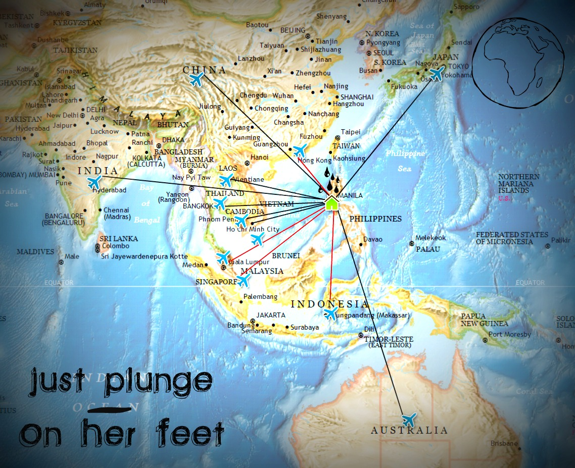 Map Of Just Asia.My Travel Map Asia Just Plunge